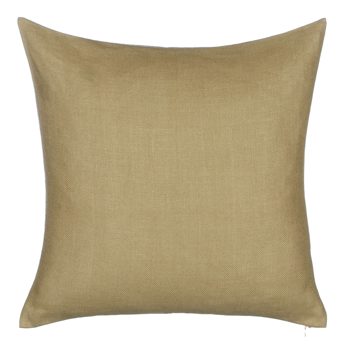 BuyCroft Collection Herringbone Linen Cushion, Green Tea Online at johnlewis.com