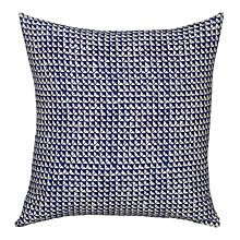Buy John Lewis Handblock Cushion, Blue Online at johnlewis.com