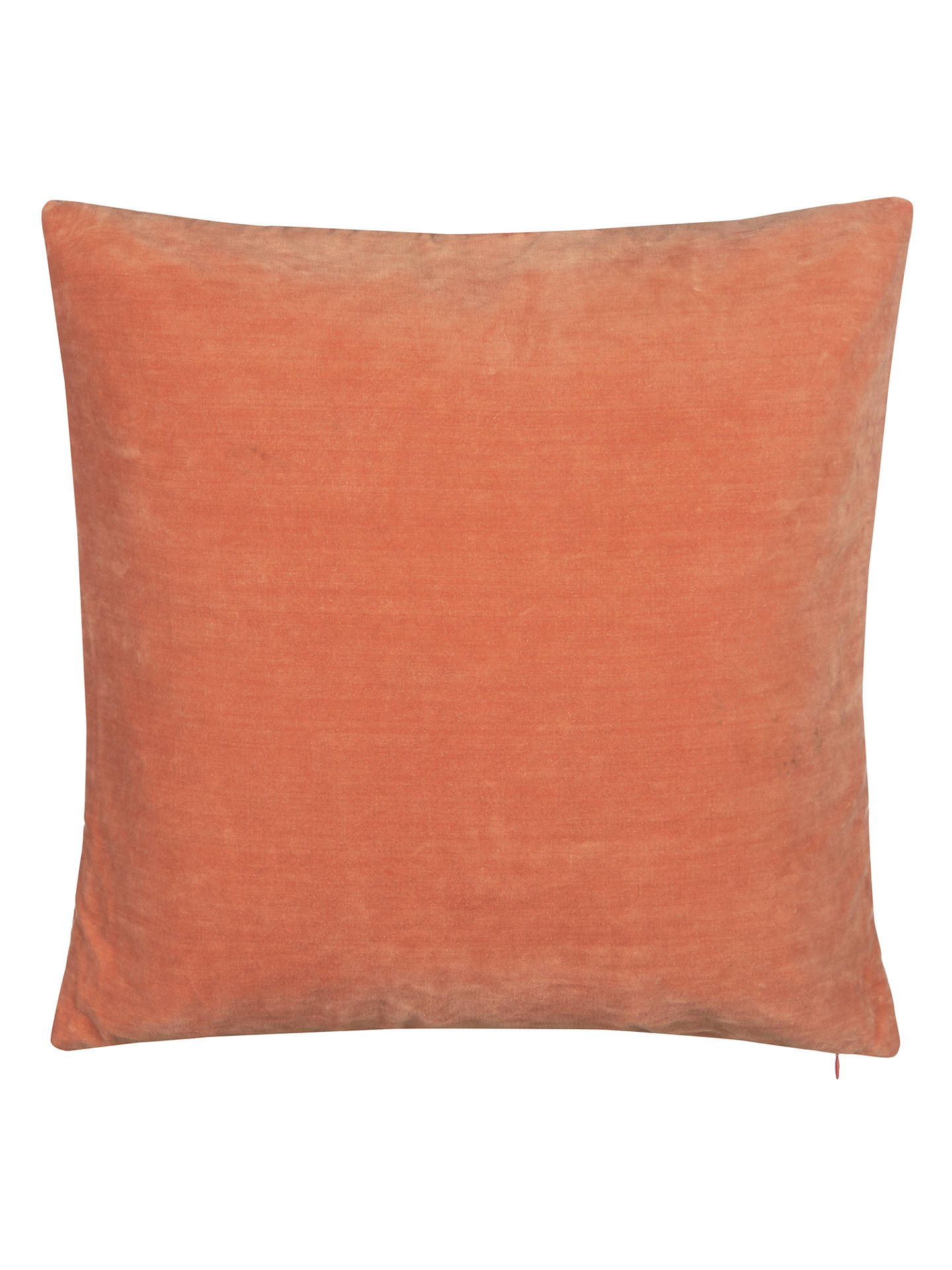 John Lewis Partners Plain Velvet Cushion Cinnabar Online At Johnlewis