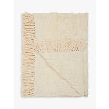 Buy John Lewis Jaipur Throw, White Online at johnlewis.com