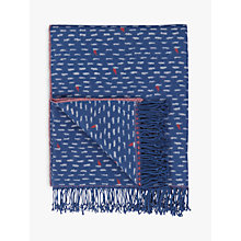 Buy John Lewis Lost at Sea Throw, Navy Online at johnlewis.com