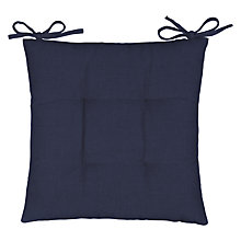 Buy John Lewis Chambray Cotton Seat Pad Online at johnlewis.com