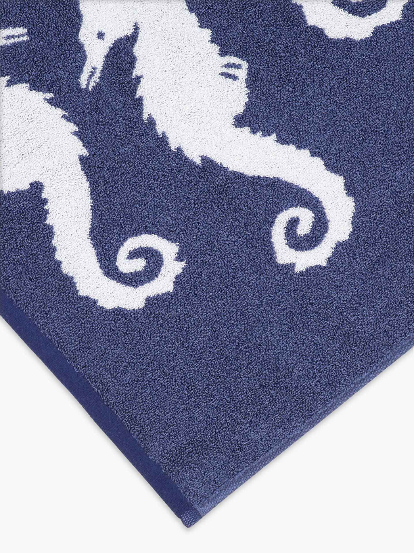 Buy John Lewis & Partners Coastal Seahorse Pacific Bath Mat Online at johnlewis.com