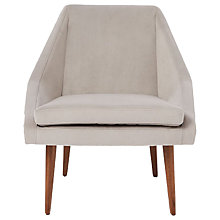 Buy west elm Parker Velvet Armchair, Dove Grey Online at johnlewis.com