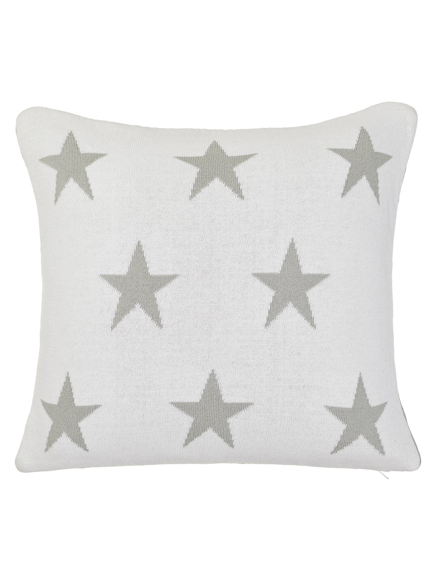 Buy little home at John Lewis Star Cushion, Grey/White Online at johnlewis.com