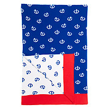Buy little home at John Lewis Noisy Harbour Throw, Blue Online at johnlewis.com