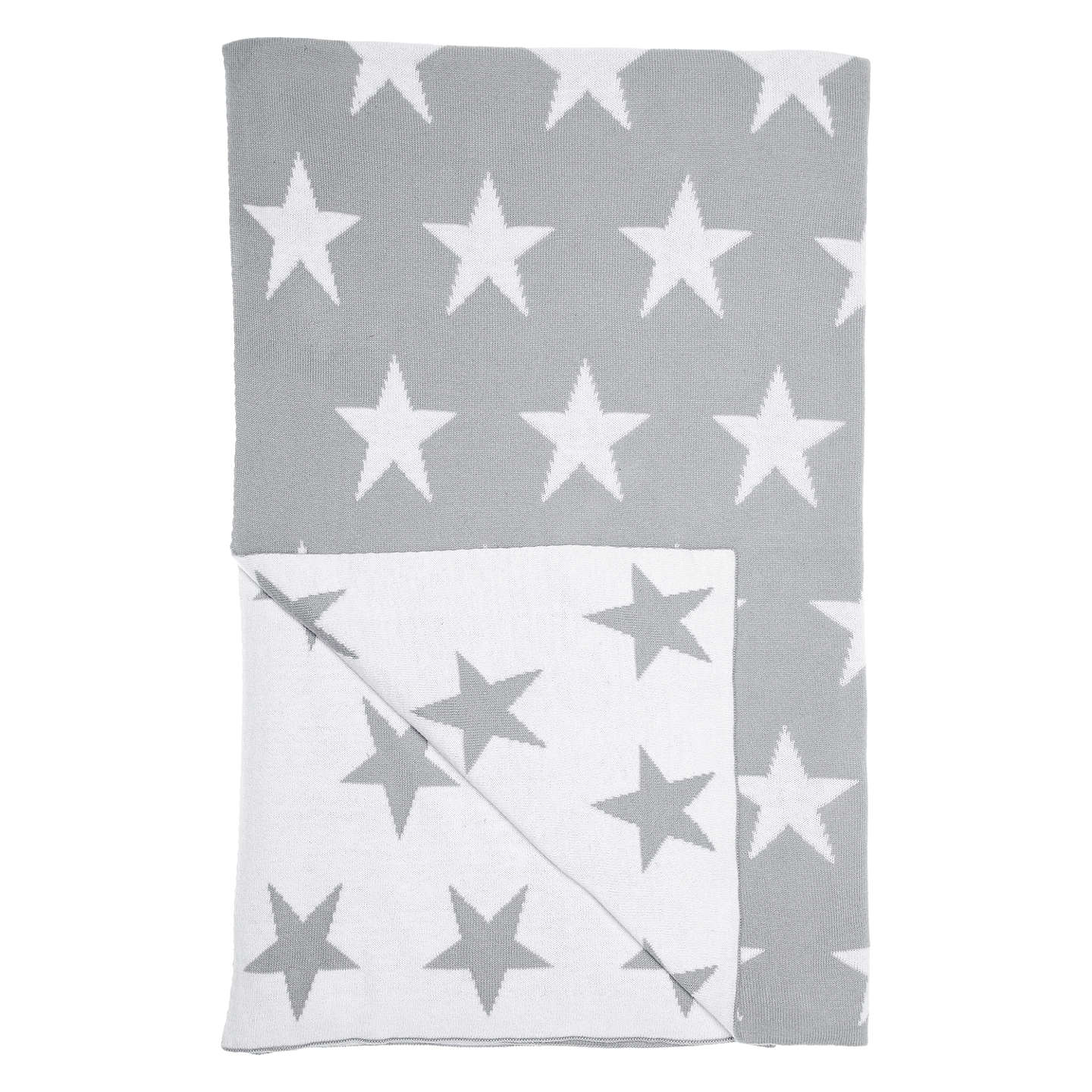Buylittle home at John Lewis Star Throw, Grey/White Online at johnlewis.com