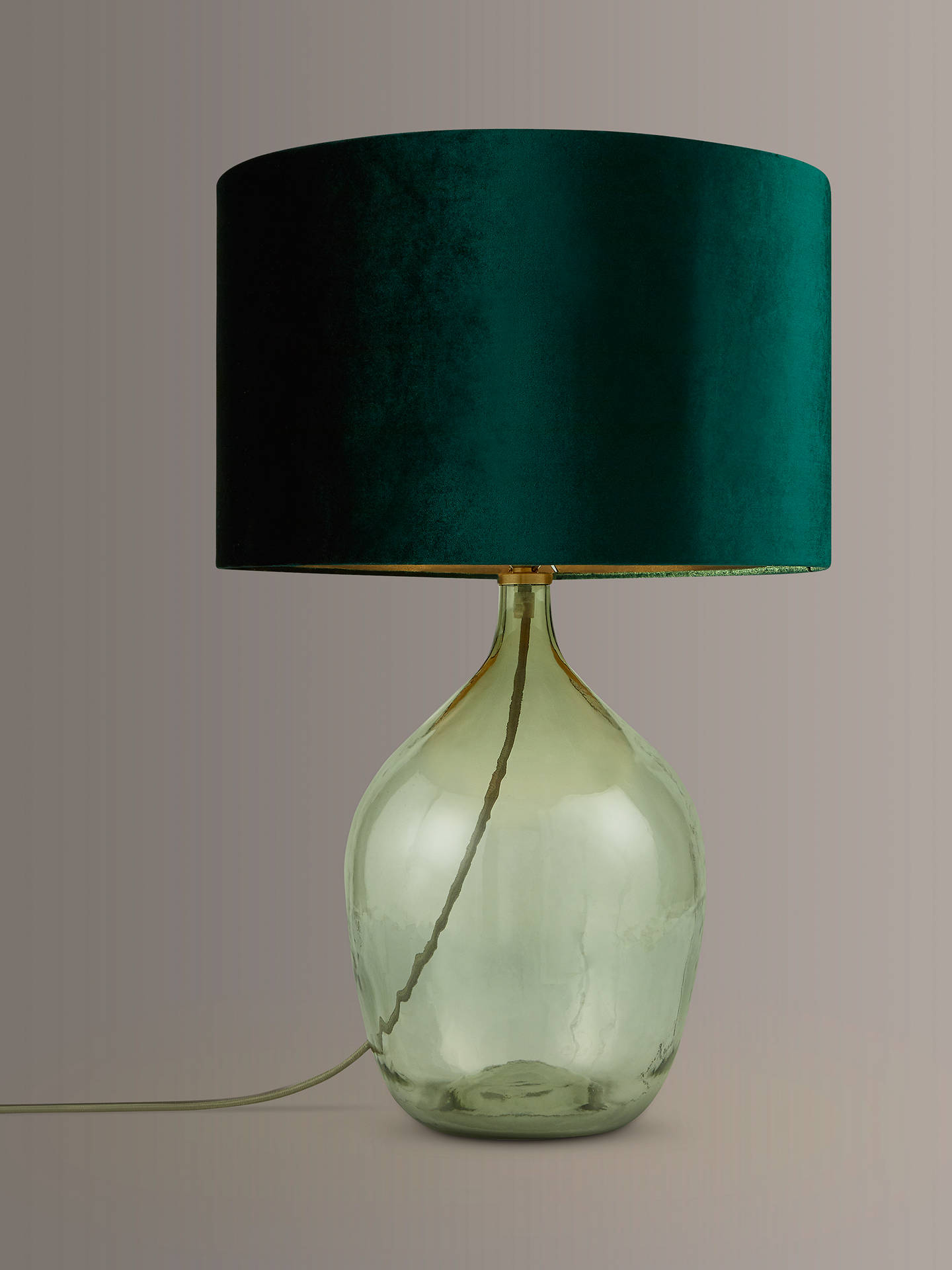 Croft Collection Robyn Bottle Gl Lamp Base Green Online At Johnlewis