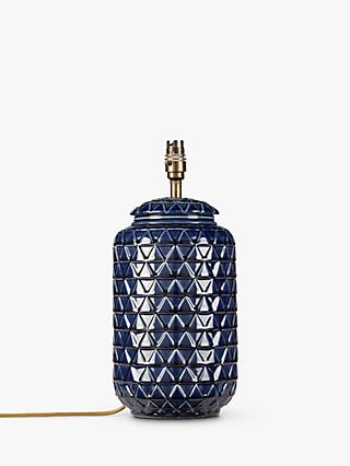 John Lewis & Partners Oshro Ceramic Lamp Base, Blue