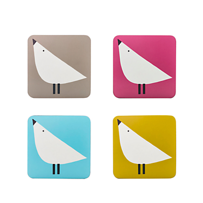 Scion Lintu Birds Coasters, Assorted, Set of 4