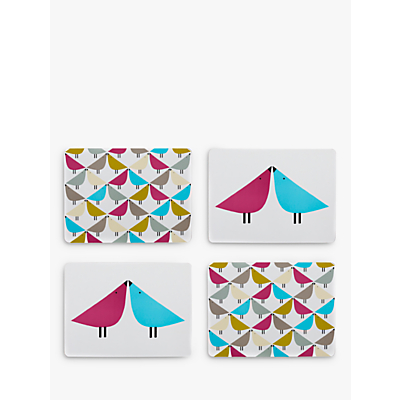 Scion Lintu Birds Placemats, Assorted, Set of 4
