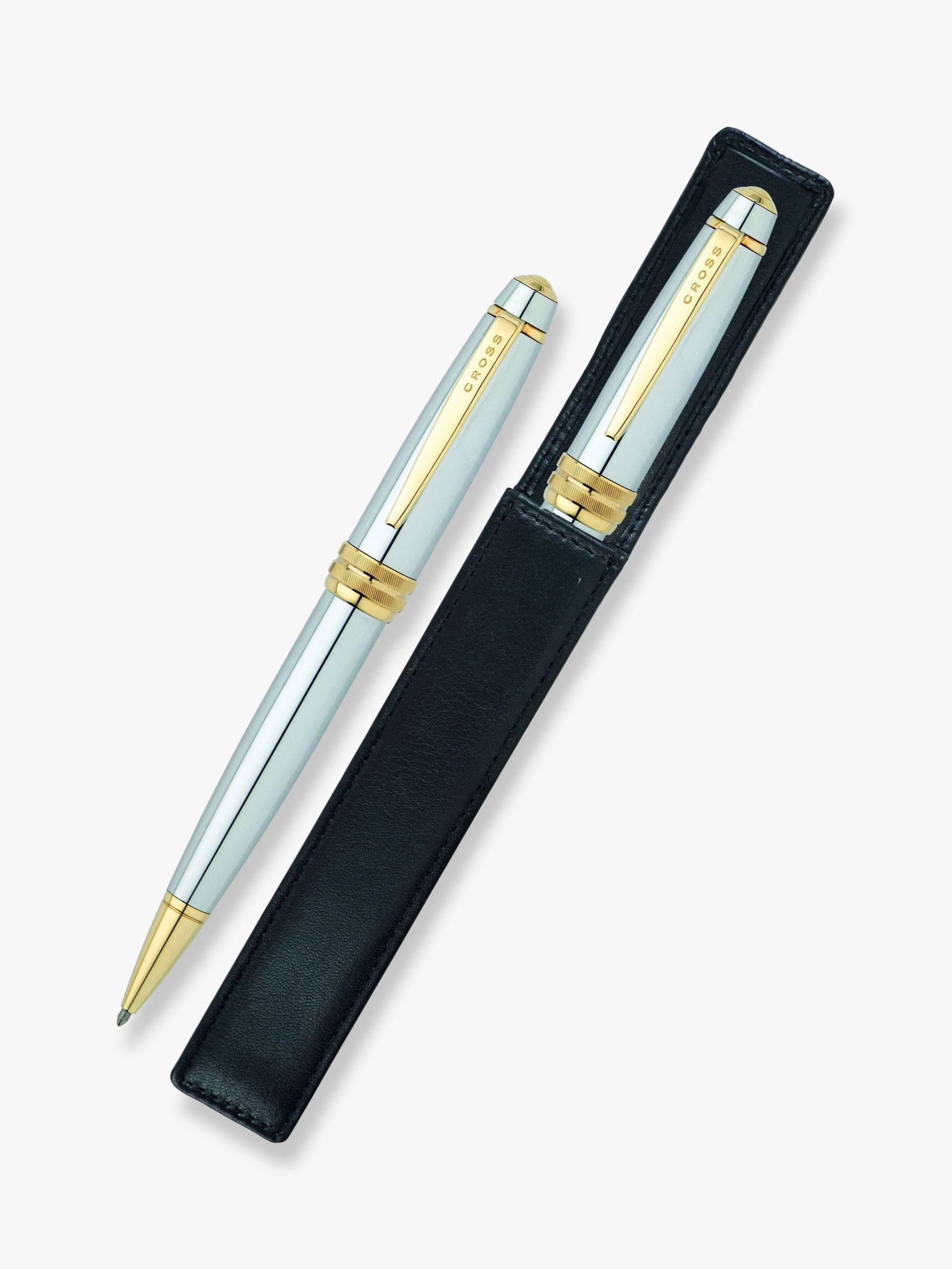 Buy Cross Bailey Medalist Ballpoint Pen & Pouch Online at johnlewis.com