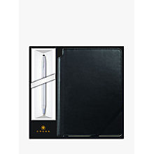 Buy Cross Classic Century Chrome Ballpoint Pen with Black Journal Online at johnlewis.com