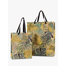 Buy John Lewis Tropical Leaf Gold Gift Bag Online at johnlewis.com