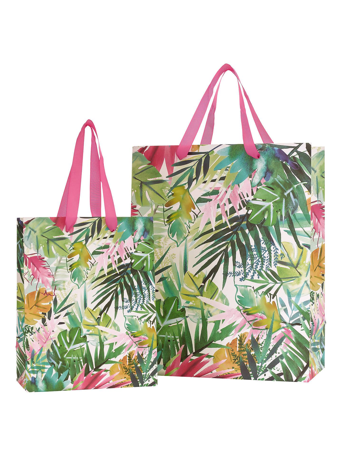 6b865f765f1f John Lewis Tropical Leaf Gift Bag at John Lewis & Partners