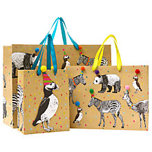 Buy John Lewis Animals Party Hats Gift Bag Online at johnlewis.com
