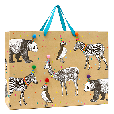 Image of John Lewis & Partners Animals Party Hats Gift Bag