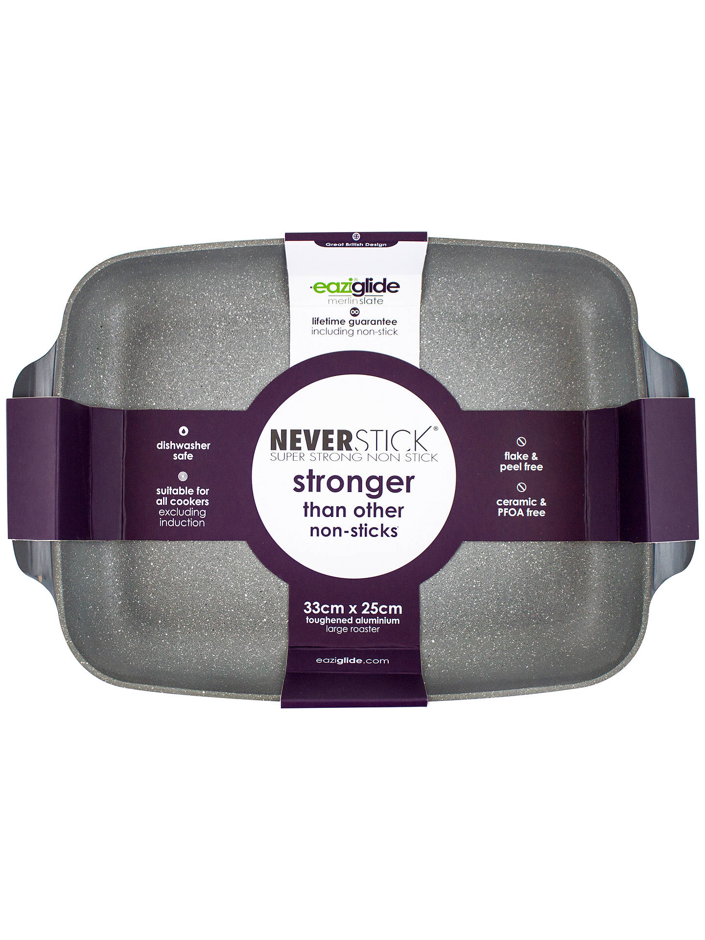 Buy Eaziglide Neverstick Non-Stick Roaster, L37cm Online at johnlewis.com