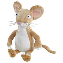 "Buy The Gruffalo 7"" Mouse Plush Soft Toy, Brown Online at johnlewis.com"