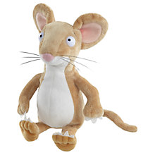 "Buy The Gruffalo 9"" Mouse Plush Soft Toy, Brown Online at johnlewis.com"