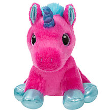 "Buy Aurora Sparkle Tales 7"" Starlight Unicorn Soft Toy, Pink Online at johnlewis.com"