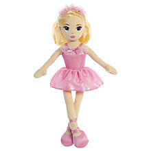 "Buy Aurora 14"" Ballerina Emma Soft Toy, Pink Online at johnlewis.com"