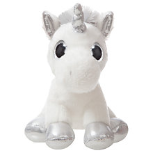 "Buy Aurora World Sparkle Tales 7"" Sparkle Unicorn Soft Toy Online at johnlewis.com"