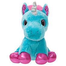 "Buy Aurora World Sparkle Tales 7"" Moonbeam Unicorn Soft Toy Online at johnlewis.com"