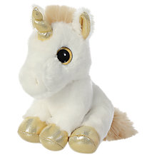 "Buy Aurora World Sparkle Tales 7"" Twinkle Unicorn Soft Toy Online at johnlewis.com"