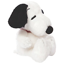 "Buy Peanuts 7"" Snoopy Soft Toy, White Online at johnlewis.com"