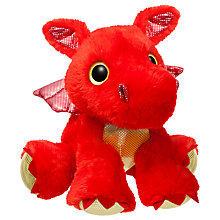"Buy Aurora Sparkle Tales 12"" Sizzle Dragon Soft Toy, Red Online at johnlewis.com"