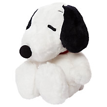 "Buy Peanuts 11"" Snoopy Soft Toy, White Online at johnlewis.com"