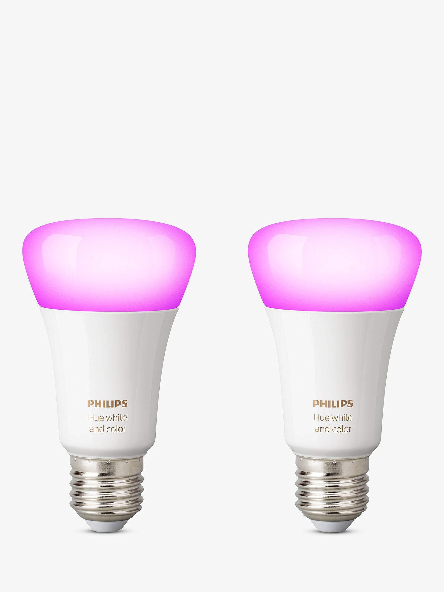 08f3fe3bd Buy Philips Hue White and Colour Ambiance Wireless Lighting LED Colour  Changing Light Bulb