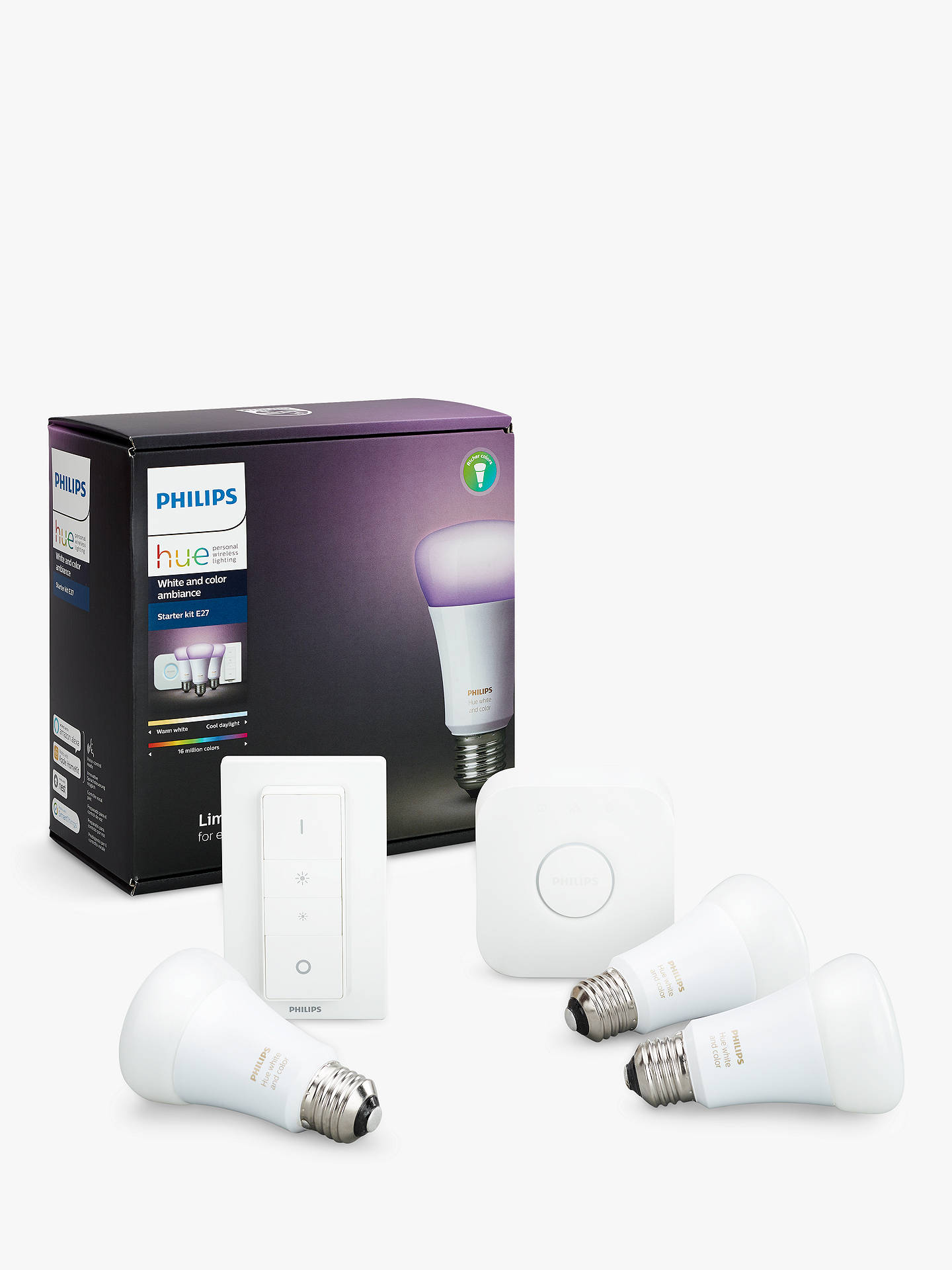 Fluorescent Lamp Lights Starter Philips Hue White And Colour Ambiance Wireless Lighting Led Buyphilips Kit With 3 Bulbs 10w