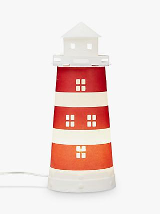 little home at John Lewis Noisy Harbour Lighthouse Table Lamp