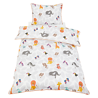 little home at John Lewis Animal Fun Duvet Cover and Pillowcase Set, Single