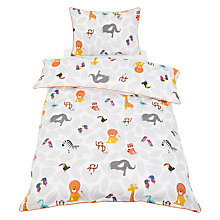 Buy little home at John Lewis Animal Fun Duvet Cover and Pillowcase Set, Single Online at johnlewis.com