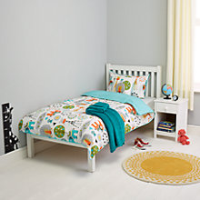 Buy little home at John Lewis Wildside Duvet Cover and Pillowcase Set, Single Online at johnlewis.com
