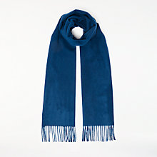 Buy John Lewis Premium Woven Cashmere Scarf, Blue Online at johnlewis.com