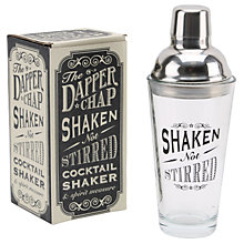 Buy The Dapper Chap Shaken Not Stirred Cocktail Shaker, Silver Online at johnlewis.com