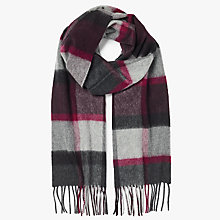 Buy John Lewis Premium Woven Cashmere Check Scarf Online at johnlewis.com