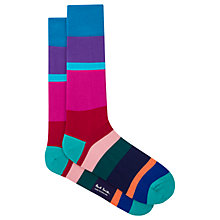 Buy Paul Smith Jolly Block Cotton Socks, One Size, Pink/Multi Online at johnlewis.com