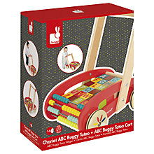 Buy Janod Wooden ABC Buggy Cart Online at johnlewis.com