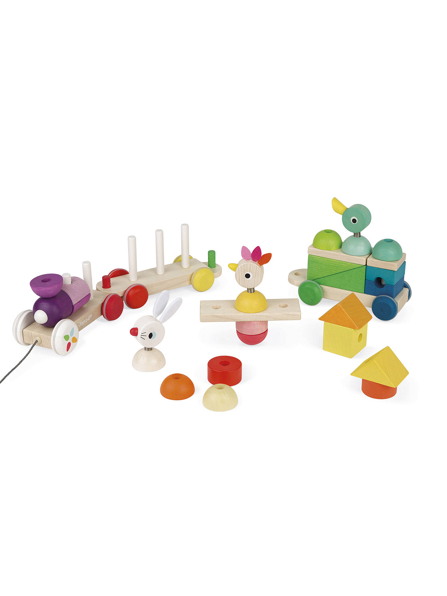 Buy Janod Zigolos Giant Train Wooden Play Set Online at johnlewis.com