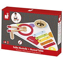 Buy Janod Confetti Wooden Music Table Online at johnlewis.com