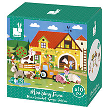Buy Janod Mini Story Farm Wooden Play Set Online at johnlewis.com