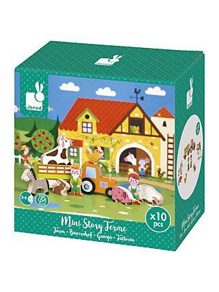 Janod Mini Story Farm Wooden Play Set