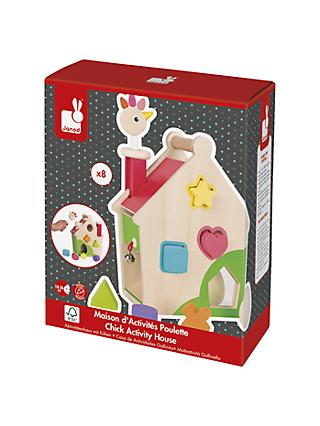 Janod Chick Activity House Wooden Play Set