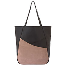 Buy Mint Velvet Leather Asymmetric Shopper Bag, Black Online at johnlewis.com