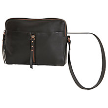 Buy Mint Velvet Grace Leather Centre Zip Cross Body Online at johnlewis.com